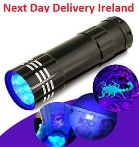 Mini-Aluminum-UV-Ultra-Violet-9-LED-Flashlight-Blacklight-Torch-Light-Lamp-Money