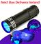 Mini-Aluminum-UV-Ultra-Violet-9-LED-Flashlight-Blacklight-Torch-Light-Lamp-Money thumbnail 1