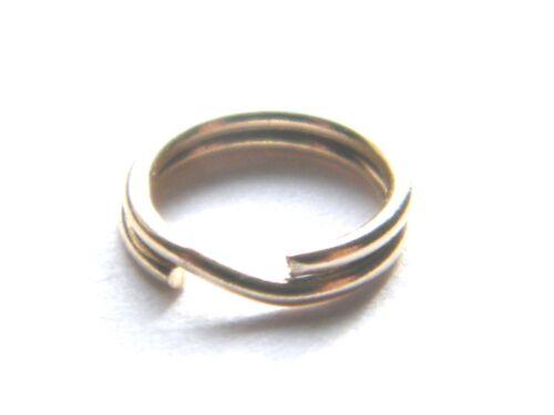 9ct Oro Giallo Split Ring 9mm facile da usare funzionano come un portachiavi-Ottimo Per Charms