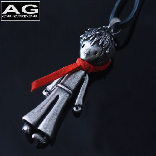 """The little prince red scarf vintage style pendant 30/"""" black leather necklace"""