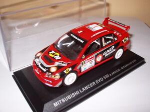 RPT10M-voiture-1-43-IXO-Rallye-PORTUGAL-MITSUBISHI-Lancer-EVO-VIII-Araujo-2005
