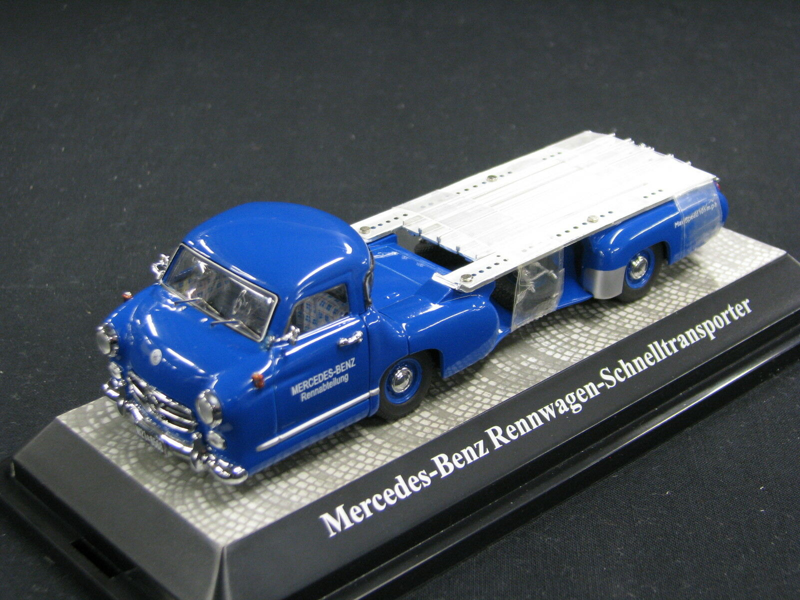 MB Mercedes-Benz Rennwagen-schnelltransporter 1 43  MB Rennabteilung  (JS)