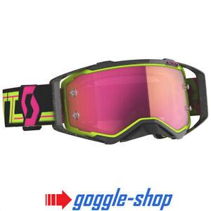 Scott Fury Occhiali Motocross nero//rosa