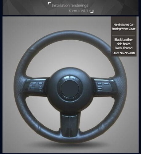Black Leather Steering Wheel Cover for Mazda MX-5 2009-2013
