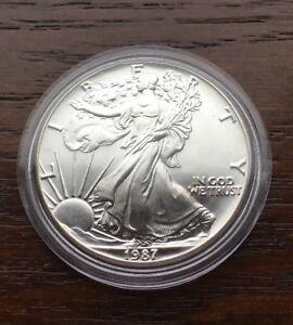 1987-Silver-American-Eagle-1oz-Pure-Silver-BU-CONDITION