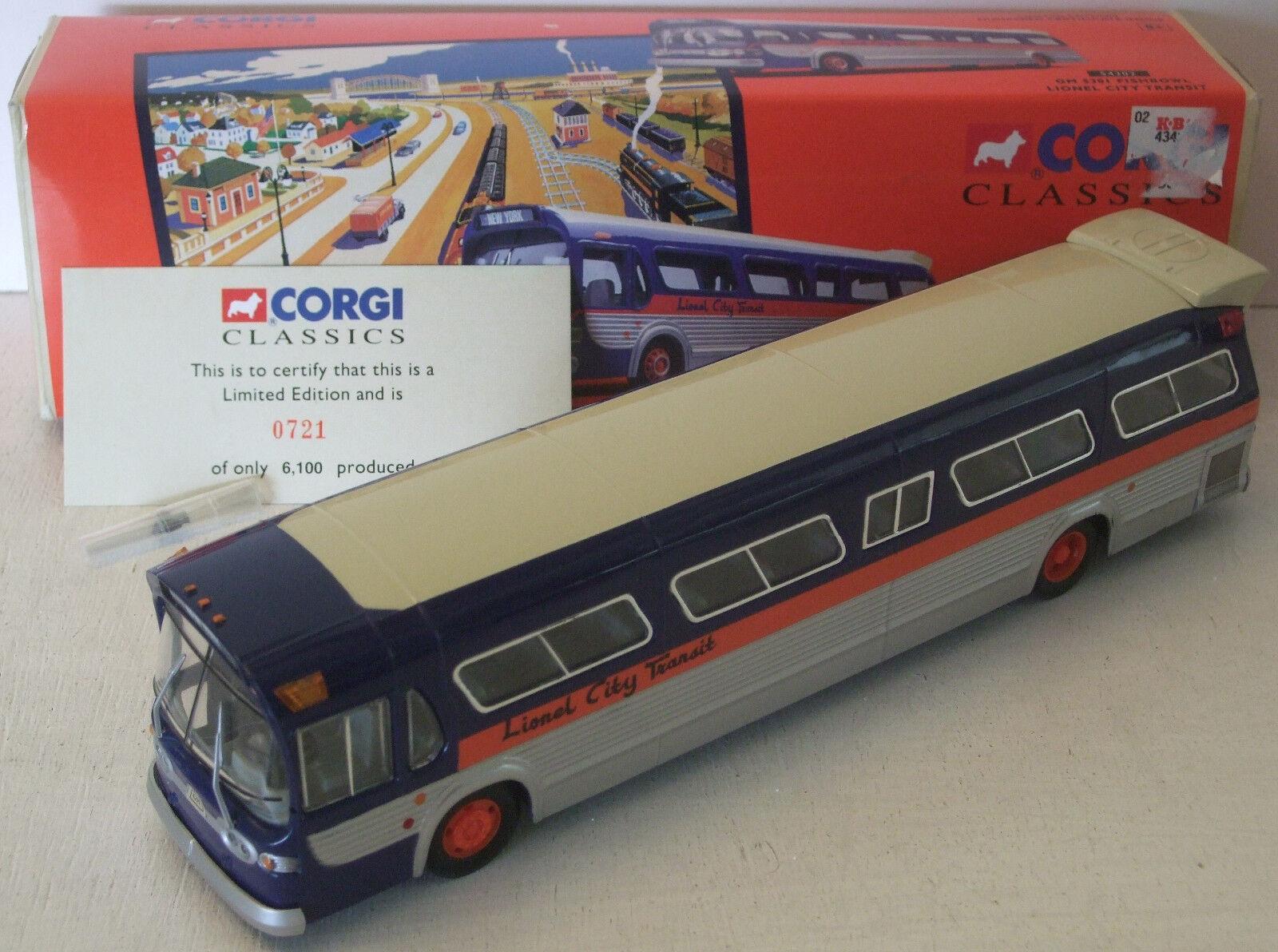 Corgi Fishbowl Lionel City Transit Bus GM 5301 Nuovo in Box 54302 w/mirrors & card