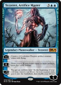 TEZZERET-ARTIFICE-MASTER-M19-Core-Set-2019-MTG-Blue-Planeswalker-Mythic-Rare