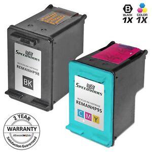 2Pk-98-95-BLACK-COLOR-Print-Ink-Cartridge-for-HP-Photosmart-D5155-D5160-2570