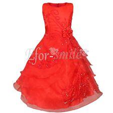 Blumenmädchen Kleid Abendkleid Kommunions Hochzeit Festkleid Vintage Kleider NEU