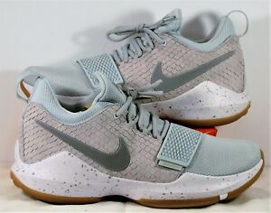 26b15d69d85076 Nike PG 1 Paul George Pure Platinum   Wolf Grey Basketball Sz 11 NEW ...