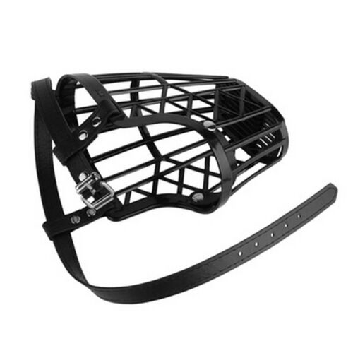 adjustable basket mouth muzzle cover for dog training bark bite chew control XS