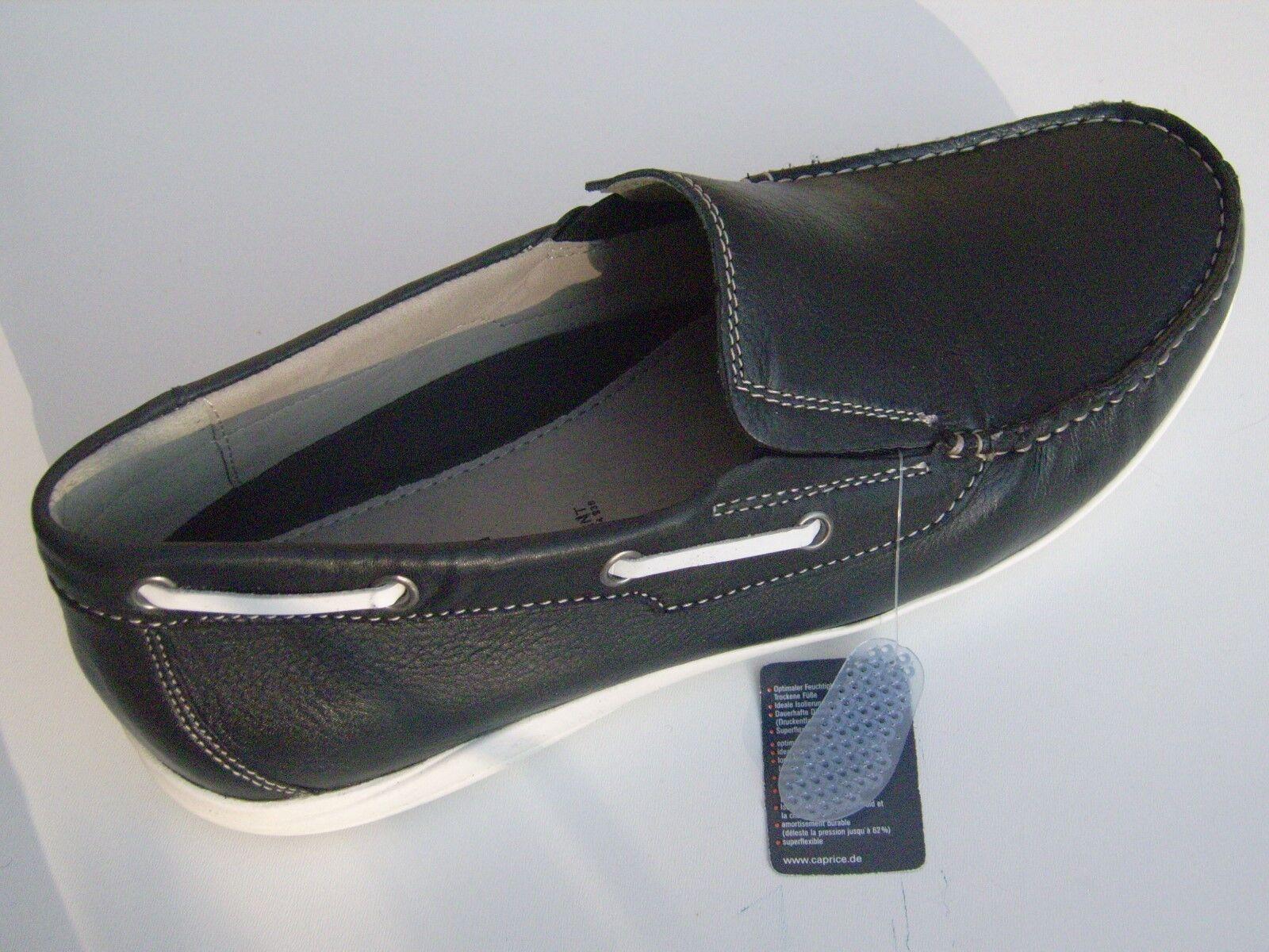 Caprice Herren-Slipper ,Obermaterial+Decksohle Leder,Farbe Ocean, Antistress