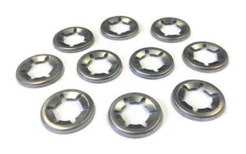 50 Piece Assortment Genuine Stainless Steel Starlock Washers Metric