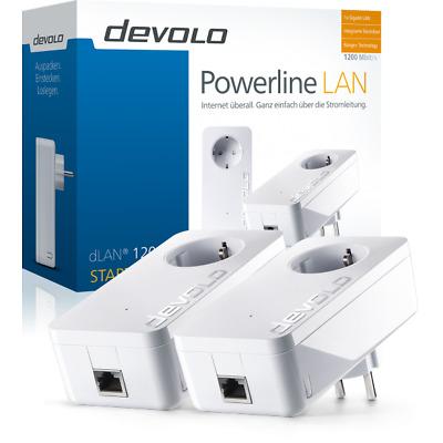 devolo dLAN 1200+ Starter Kit 1200Mbit, 2er Set, Powerline, 1xGB LAN, Steckdose