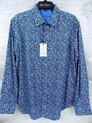 Robert Graham MIXED COMPANY Blue $198 Medium NEW NWT Classic Fit Medium