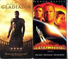 Gladiator (VHS, 2000) & Armageddon - 2 Action VHS