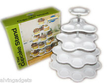 5 Tier Cupcake Stand 27 Cupcake Holder Stand (White)