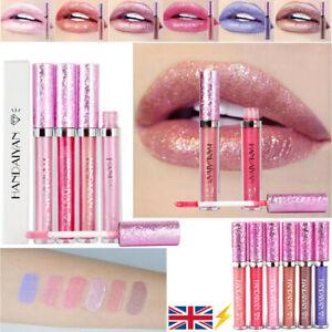 Glitter Liquid Lipstick Matte Waterproof Long Lasting Lip Gloss Makeup 6 Color