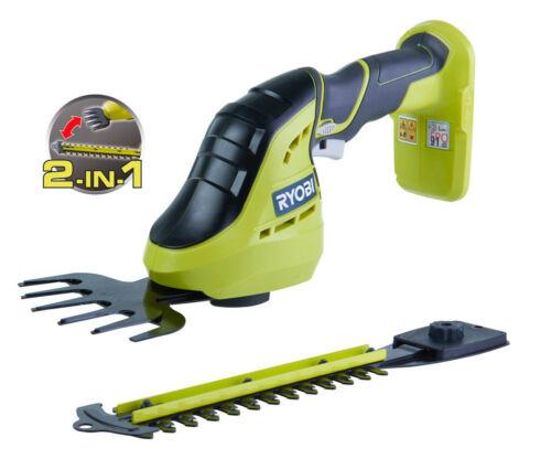 Ryobi OGS1822 18V ONE Cordless 2-in-1 Grass Shear /& Shrubber Zero Tool
