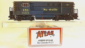 N-ATLAS-52025-H15-44-Rio-Grande-Locomotive-151-DCC-Ready-Tested