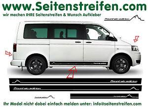volkswagen vw bus t4 t5 mountain edition seitenstreifen. Black Bedroom Furniture Sets. Home Design Ideas