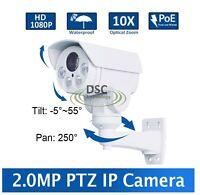 Cctv 1080p Mini Outdoor Ir Bullet Ip Ptz Camera 10x Zoom Poe 2mp Hd,sd Card Slot