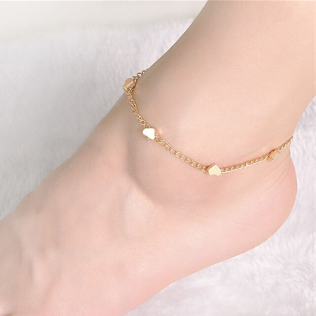 Fashion Women Anklet  Silver Gold Charm Ankle Chain Bracelet Foot Sandal Jewelry