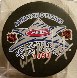 WAYNE-GRETZKY-HOF-SIGNED-AUTOGRAPHED-44ST-NHL-1993-ALL-STAR-GAME-HOCKEY-PUCK-COA