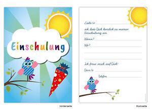 Karte Schulanfang.20 Einladungskarten Zum Schulanfang Einschulung 1 Schultag