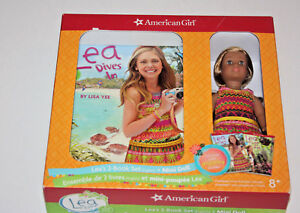 American-Girl-of-the-Year-2016-LEA-CLARK-Mini-Doll-w-2-Book-Set-New-in-Box