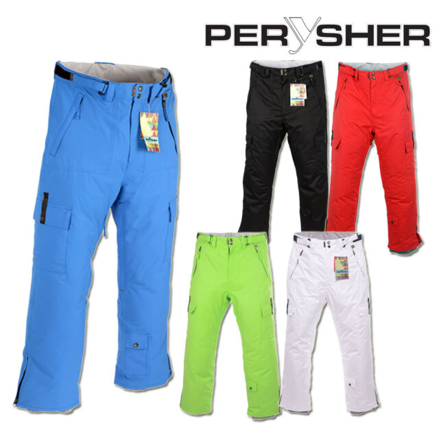 PERYSHER PERFORMANCE Waterproof Ski Snowboard Pants for Men (5 Colour Choices)