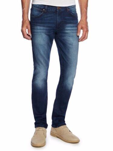 Blaze Blue Wrangler Larston Denim Slim Fit Men Jeans Authentic