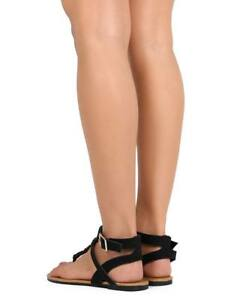 7d3723fab Image is loading New-Women-HOTSOLES-Dog-Leatherette-Beaded-Tribal-T-