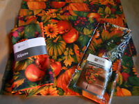 Jc Penney Home Collection Harvest Pumpkin Runner Placemats Napkins Multi
