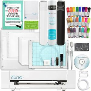 Silhouette-Curio-Sketch-Pen-Set-Guide-2-Full-Rolls-Vinyl-Tools-and-More