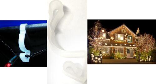 24 corde légère gouttière crochets Clips fixation maison décoration Noël gouttières