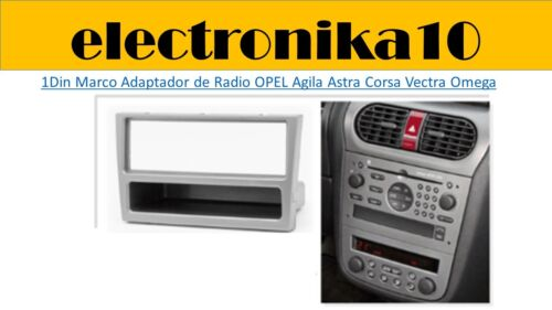 Marco Montaje Radio Coche 1din Opel Astra G signum Tigra plata Corsa Vectra