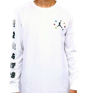 b427ea1a Nike Air Jordan Championship Mens White Long Sleeve T shirt 806533 ...