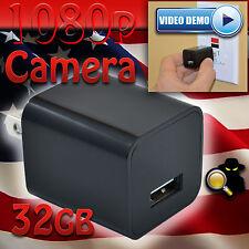 1080p USB Spy Camera 32gb UX-6 ScoutOut DVR GENUINE Charger Surveillance CIA FBI
