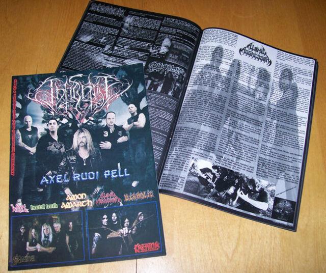 Antichrist Magazine #8 KREATOR SAXON AMON AMARTH BRUTAL TRUTH  FORTERESSE (Ca)