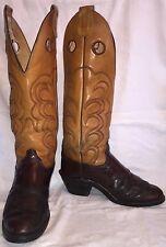"Vintage Mens Size 10.5 D OLATHE 7427 Cowboy Western Buckaroo 19"" Tall USA Boots"