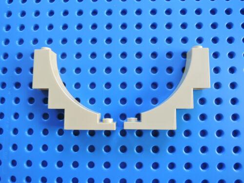 LEGO 2 x ponti pietra semi-arco 30099 1x5x4 inversione BEIGE TAN 5958 4768 8061