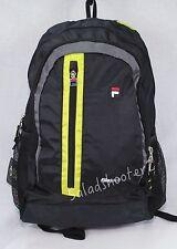 Fila Tech Vertigo School Student Backpack Neon and Black New with Tags