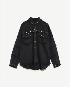 Zara-Studded-Distressed-Denim-Jacket