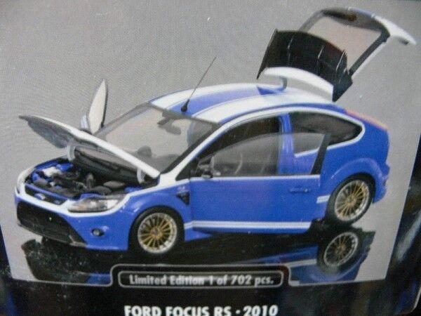 1 18 Minichamps Ford Focus RS 2010 blue white white white a2c796