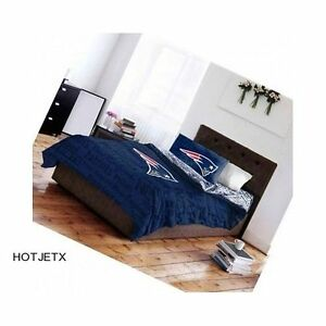 Image Is Loading New England Patriots Bedding Set Queen Nfl Football