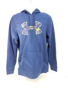 Under-Armour-Loose-Blue-amp-Yellow-Hoodie-Sweatshirt-Top-Mens-Medium