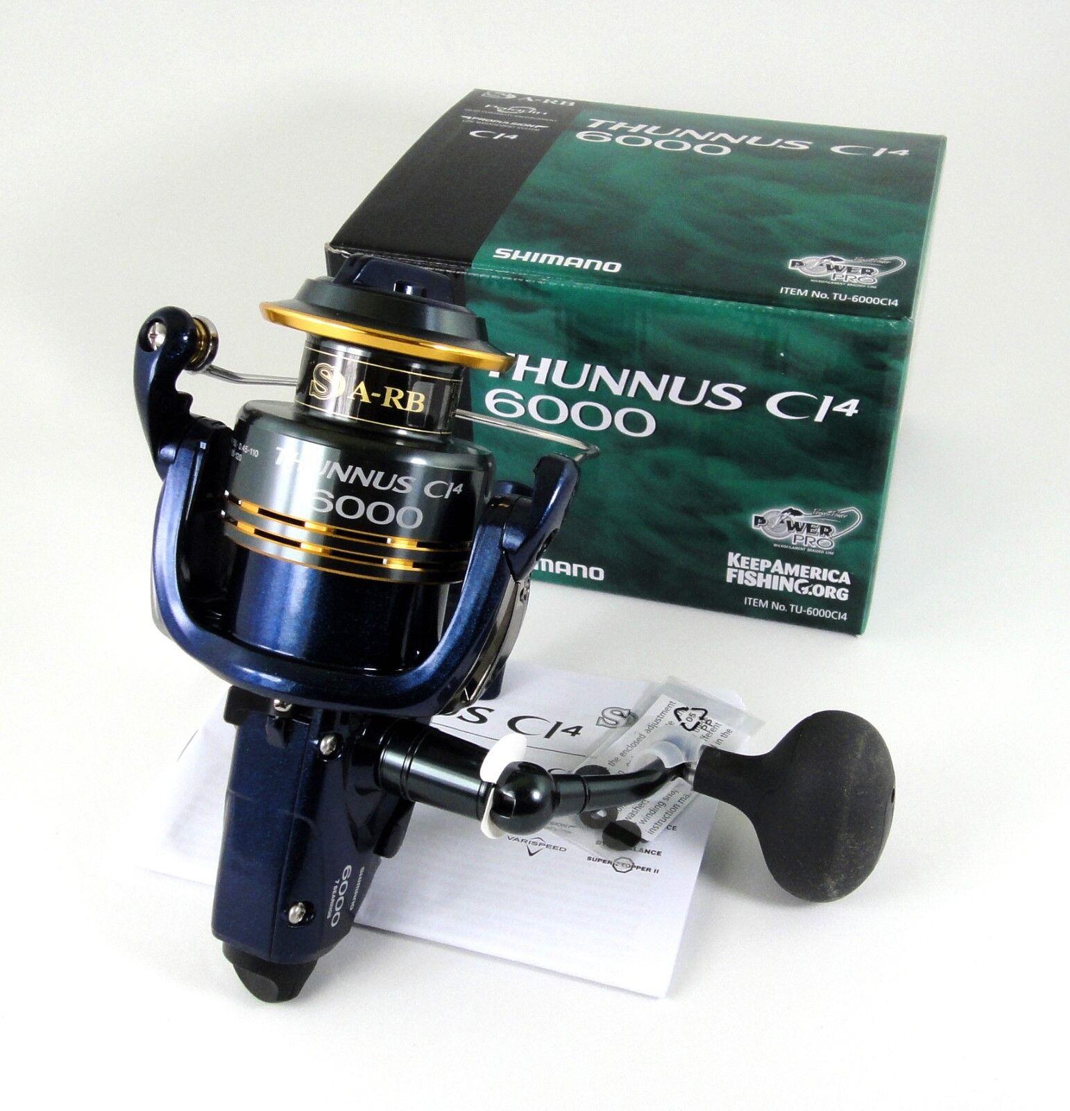 NEW SHIMANO THUNNUS CI4 6000 TU-6000CI4 USPS PM 1-3 DAY DELIVERY