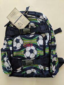 ac8d1540ba1d Image is loading Pottery-Barn-Kids-Backpack-Soccer-Navy-Blue-White-