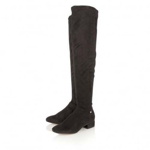 Faux Quality Ladies Heel Flat Over Floyd Low Suede Black Knee Ravel Boots Uk 4 qvtxpvwT